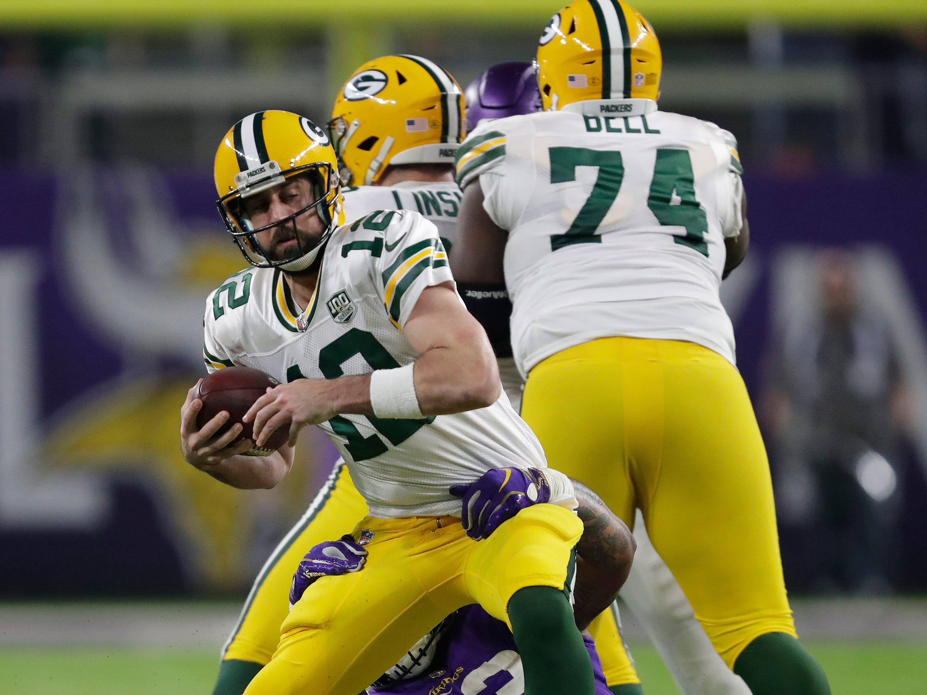 during their football game Sunday, November 25, 2018, at U.S. Bank Stadium in Minneapolis, Minn. Dan Powers/USA TODAY NETWORK-Wisconsin