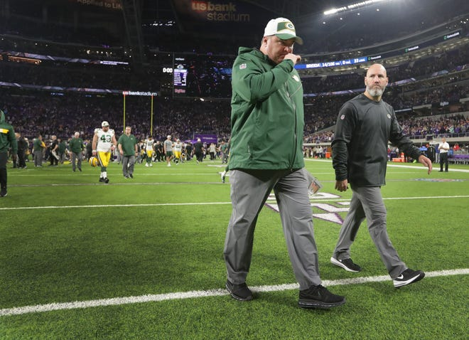 Green Bay Packers head coach Mike McCarthy leaves the field after their game Sunday, November 25, 2018 at U.S. Bank Stadium in Minneapolis, Minn. The Minnesota Vikings beat the Green Bay Packers 24-17.MARK HOFFMAN/MHOFFMAN@JOURNALSENTINEL.COM