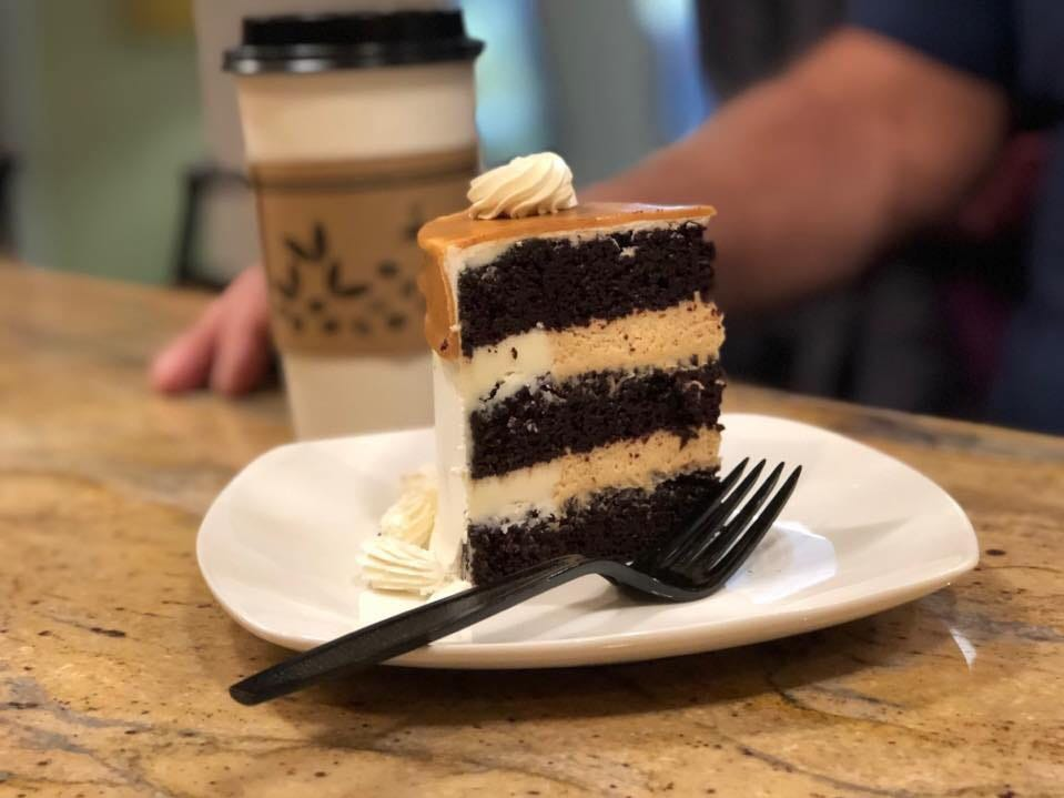 Hanoverians can buy this Peanut Butter Lover's Cake at the Cake Bar, located at 22 Carlisle Street. This cake is a chocolate cake with peanut butter mousse and vanilla buttercream icing.