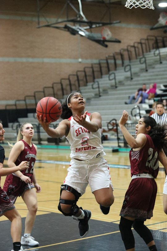 Lee Lee Willis, Seton, Fr.  She was the defensive catalyst during a successful week and had a team-high 12 points in the only loss, to host Highland.
