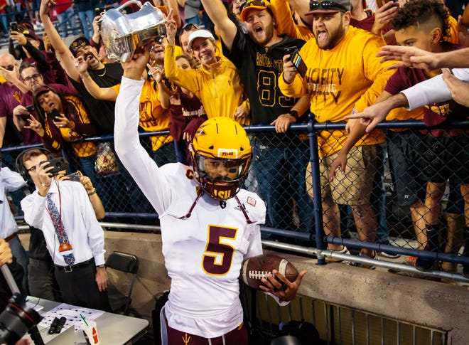 Arizona State Sun Devils quarterback Manny Wilkins has his team in a bowl game. We just don't know which one.