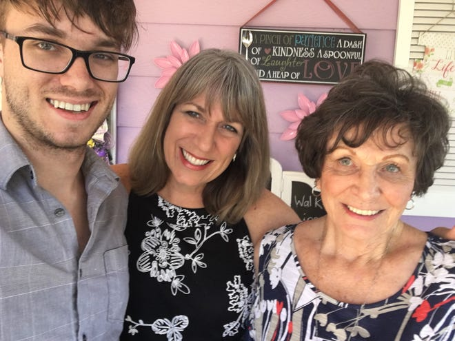 Sawyer, Karina and Marilyn Bland on Mother's Day after morning tea.