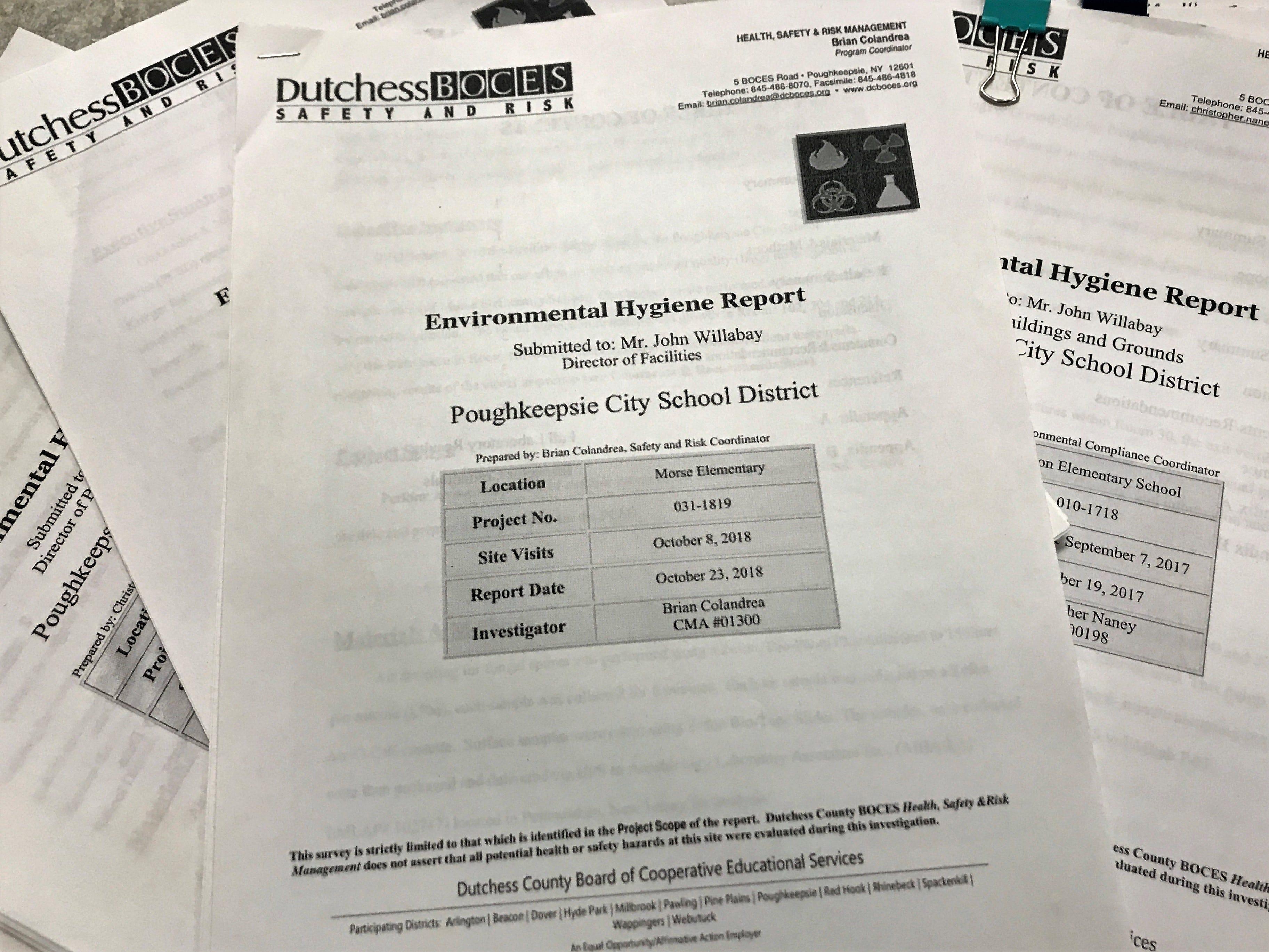 Poughkeepsie school district building records