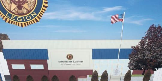 An artist rendering shows what the new one-story building. Waynesboro American Legion Post 15 will be reconstructed after the  building  burned to the ground last year. Callas Contractors, Hagerstown, will construct the new building, to be completed between November and December of 2019.