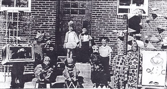 Will Williams of York shared this photo of students at York's Arch Street School taken during the 1952 May Day celebration. Some names of people pictured were provided, including Darlene Grove (queen), Bill Jacobs (seal), Wayne Fink (ringmaster), Raymond Knaub (first dog on left) and Tom Williams (middle dog).