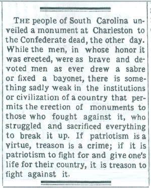 The Dec. 2, 1882 Richmond Item opined on a matter still in hot debate.