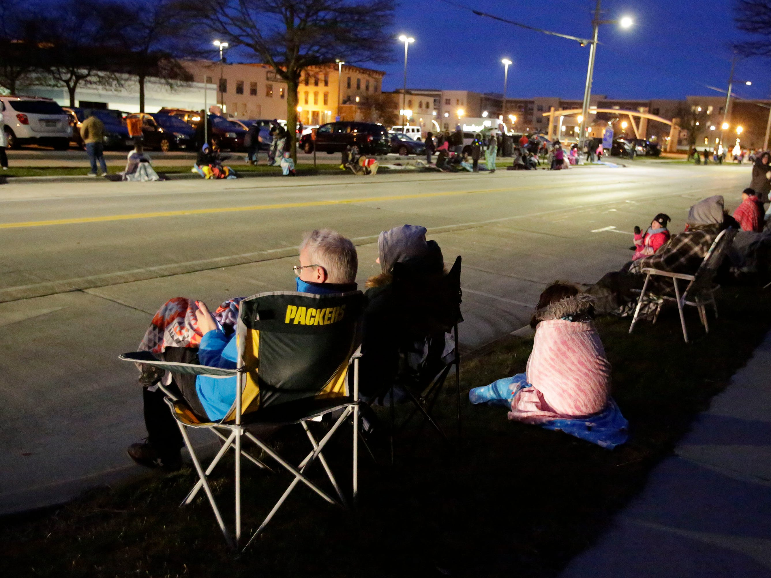 People line North 8th Street in preparation for the 26th Annual Jaycees Holiday Parade, Sunday, November 25, 2018 in Sheboygan, Wis.
