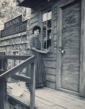 """JoDee Herschend took a job at Silver Dollar City in the summer of 1962 while a student at Southwest Missouri State University (now Missouri State University.At SDC, she worked in the General Store and was a street performer, playing the role of """"Sarey Ellen,"""" alongside a young Peter Herschend."""