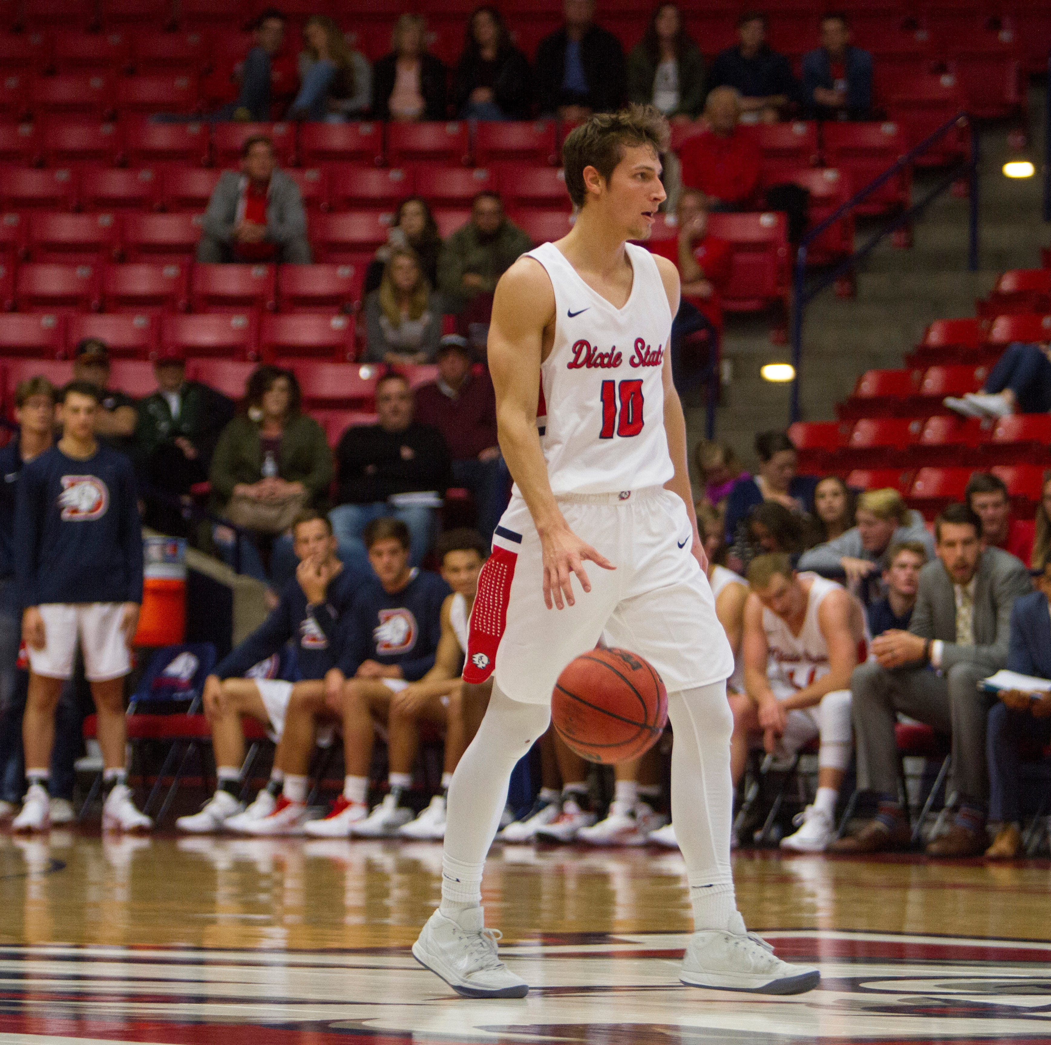 Dixie State falls short in comeback attempt, loses in first round of RMAC tourney