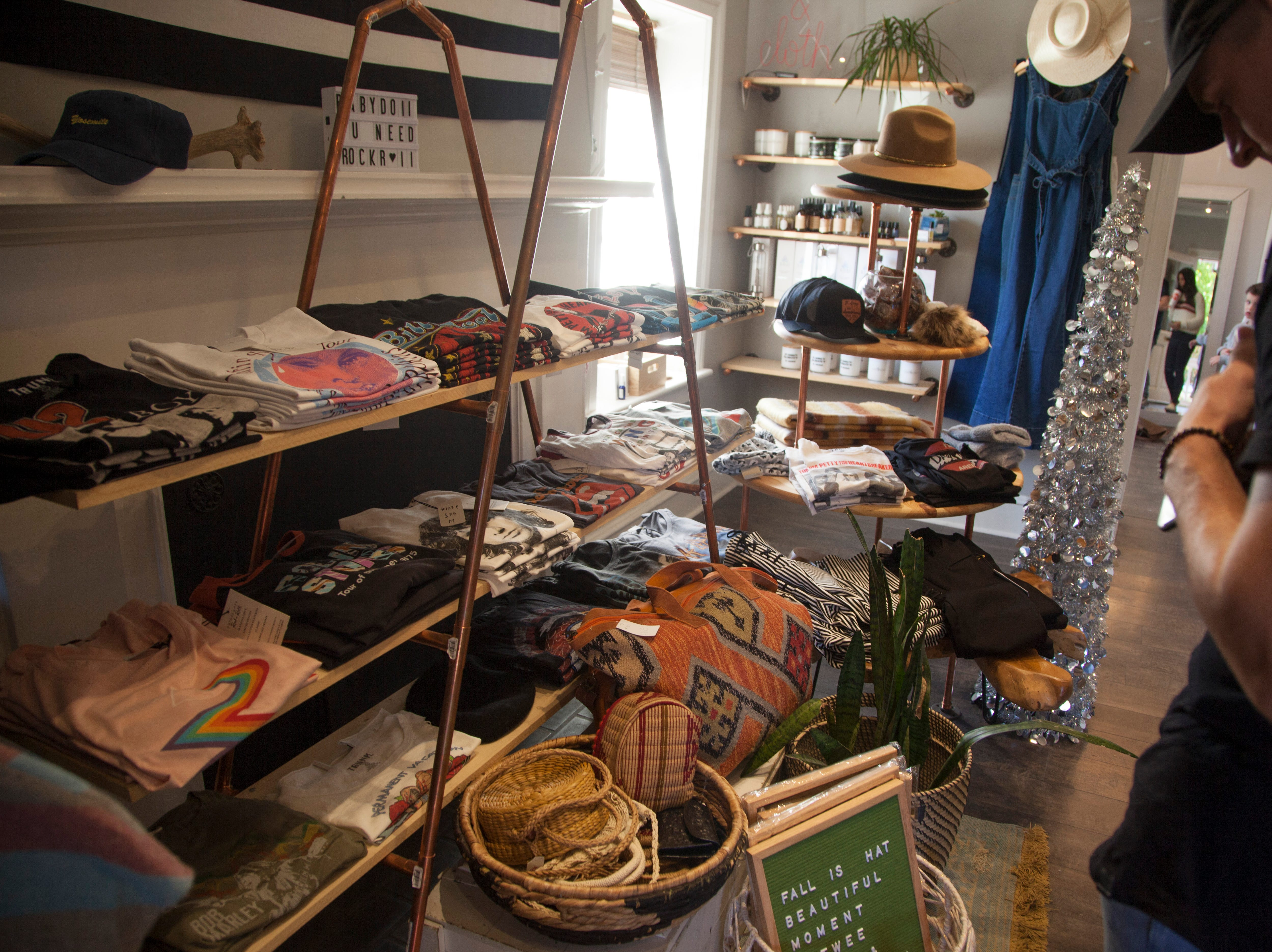 Community members recognize Small Business Saturday at Scout and Cloth Saturday, Nov. 24, 2018.