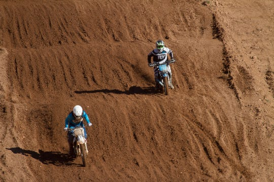Riders compete in the Thanksgiving MX Classic at the Mesquite MX Park Saturday, Nov. 24, 2018.