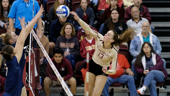 Florida State middle blocker Taryn Knuth was selected as First-Team All-ACC. The Seminoles face Florida in Orlando to open the NCAA Volleyball Tournament.