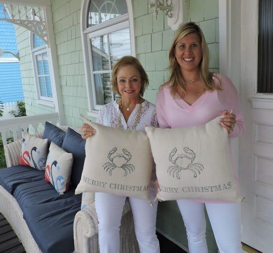 Dianne Davant-Moffitt and Priscilla Hyatt-Council of Dianne Davant & Associate outside the Clifton Guest House & Fishing Lodge