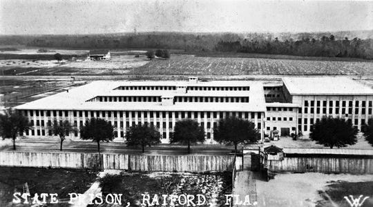Raiford State Penitentiary, aerial view, where Tucker was from 1938-1945.