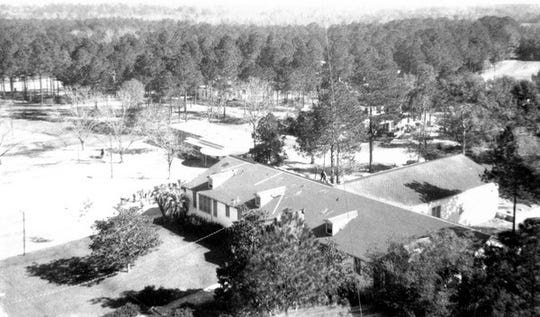 Aerial view of the Florida School for Boys in Marianna, FL.