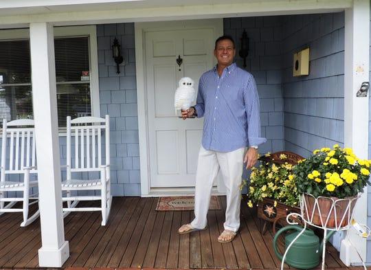 Christopher Jonathon of Christopher Jonathon Designs outside The Owl House
