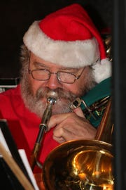 Is that Santa blowing the trombone at Fort Pierce Jazz and Blues Society's Ring a Ding Holiday Fling?