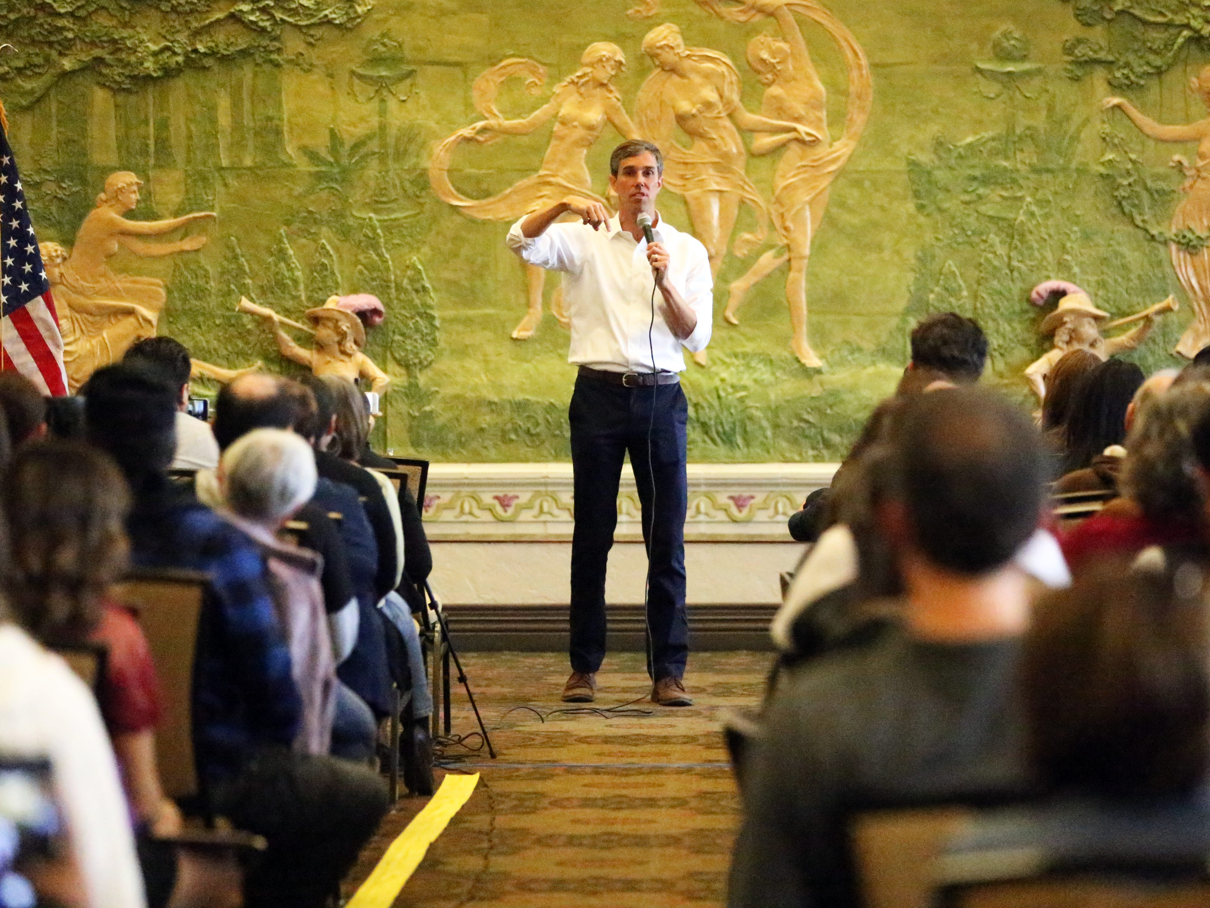 U.S. Rep. Beto O'Rourke held his first town hall since the midterm elections Monday at the El Paso Community Foundation room in downtown El Paso.