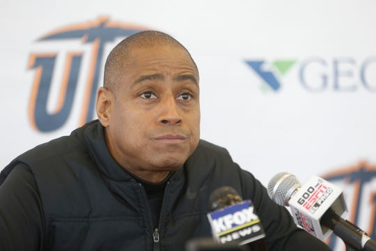 UTEP head coach Rodney Terry discusses his teams preparations for Wednesday nights rematch against the NMSU Aggies in the Don Haskins Center. The MIners are coming off a tough loss at the hands of the UNM Lobos Saturday night.