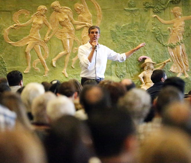 U.S. Rep. Beto O'Rourke held his first town hall since the midterm elections Monday at the El Paso Community Foundation in downtown El Paso.
