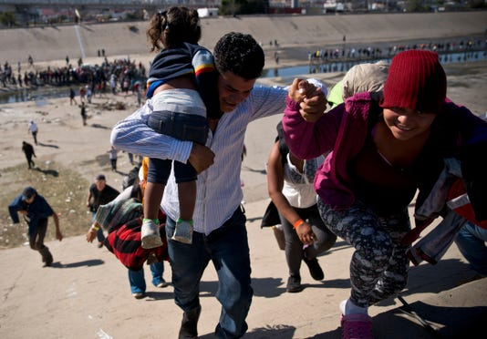 Migrant caravan in Tijuana, Mexico