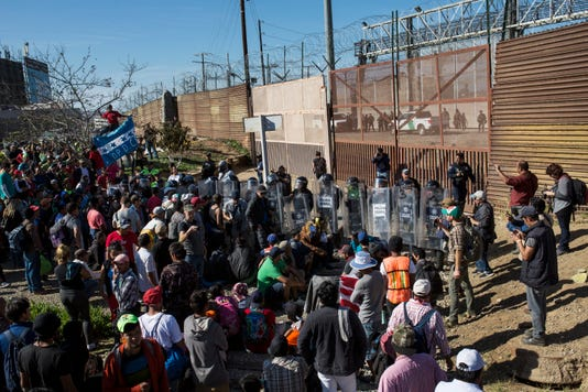Migrant caravan in Tijuana, Mexico