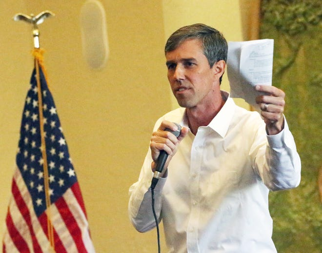 U.S. Rep. Beto O'Rourke held his first town hall since the midterm elections at the El Paso Community Foundation room.