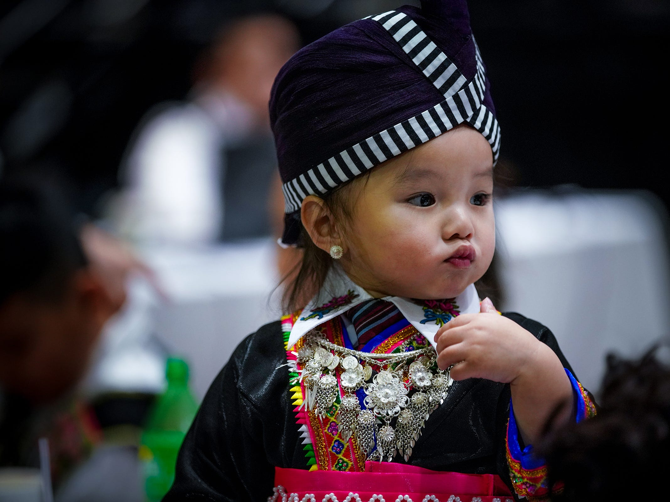 Thousands of Hmong across Wisconsin traveled over the weekend to celebrate one of the largest Hmong festivals in the country, the 40th annual Minnesota Hmong New Year event at the RiverCentre in St. Paul, Minnesota. This is a three-day celebration ran Friday through Sunday, with various activities including traditional ball tossings, folk song singing, cultural dance and a pageant competition. Many Hmong dressed up in their favorite colorful costumes and wore special hand-made jewelries to celebrate many achievements throughout the year to coincide with the holiday of Thanksgiving. T'xer Zhon Kha/USA TODAY NETWORK-Wisconsin