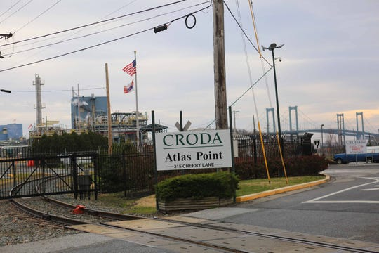 Croda Inc., located at the base of the Delaware Memorial Bridge near New Castle, released ethylene oxide, an extremely flammable gas, from a tank, causing the bridge to be shut down for several hours on Nov 25, 2018.