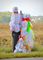 "In a photo posted Oct. 9 on his Facebook page, Cape Gazette reporter Ron MacArthur said ""May be the best seasonal costumes yet. Pole Family on Route 9 near Lewes is dressed for Halloween."""