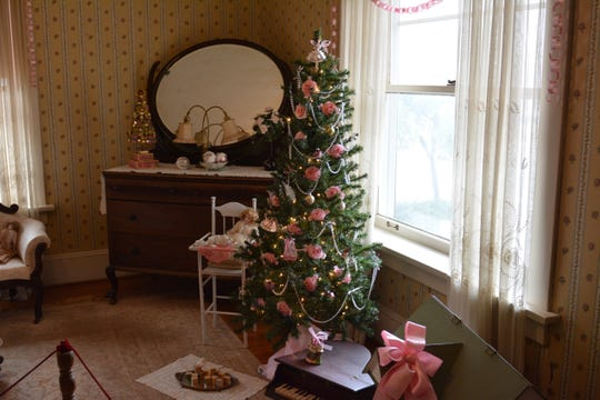 Some of the Christmas decorations from Mary Joe and Sibyl Kell's room in the Kell House Candlelight Christmas Tours, which takes place over the first and second floors of house from 6 to 8 p.m. Saturday Dec. 22. Santa House features plays and crafts and Santa Claus and runs daily until Fri. December 7.