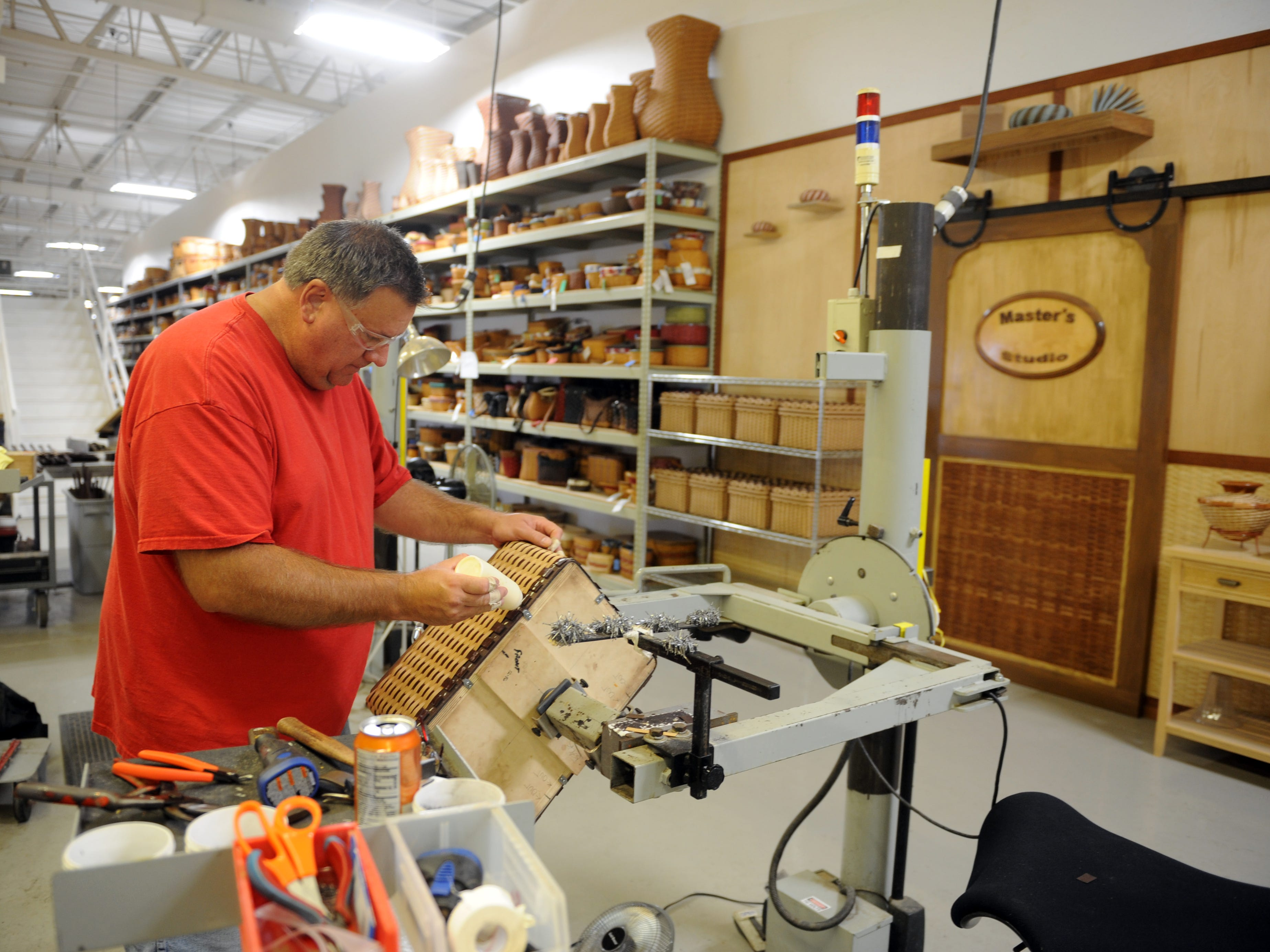 Mike Carpenter makes a Master's Studio picnic basket. Dave Longaberger founded the Longaberger Company in 1973 in Dresden. Currently, more than 20,000 home consultants sell Longaberger baskets, accessories and other products.