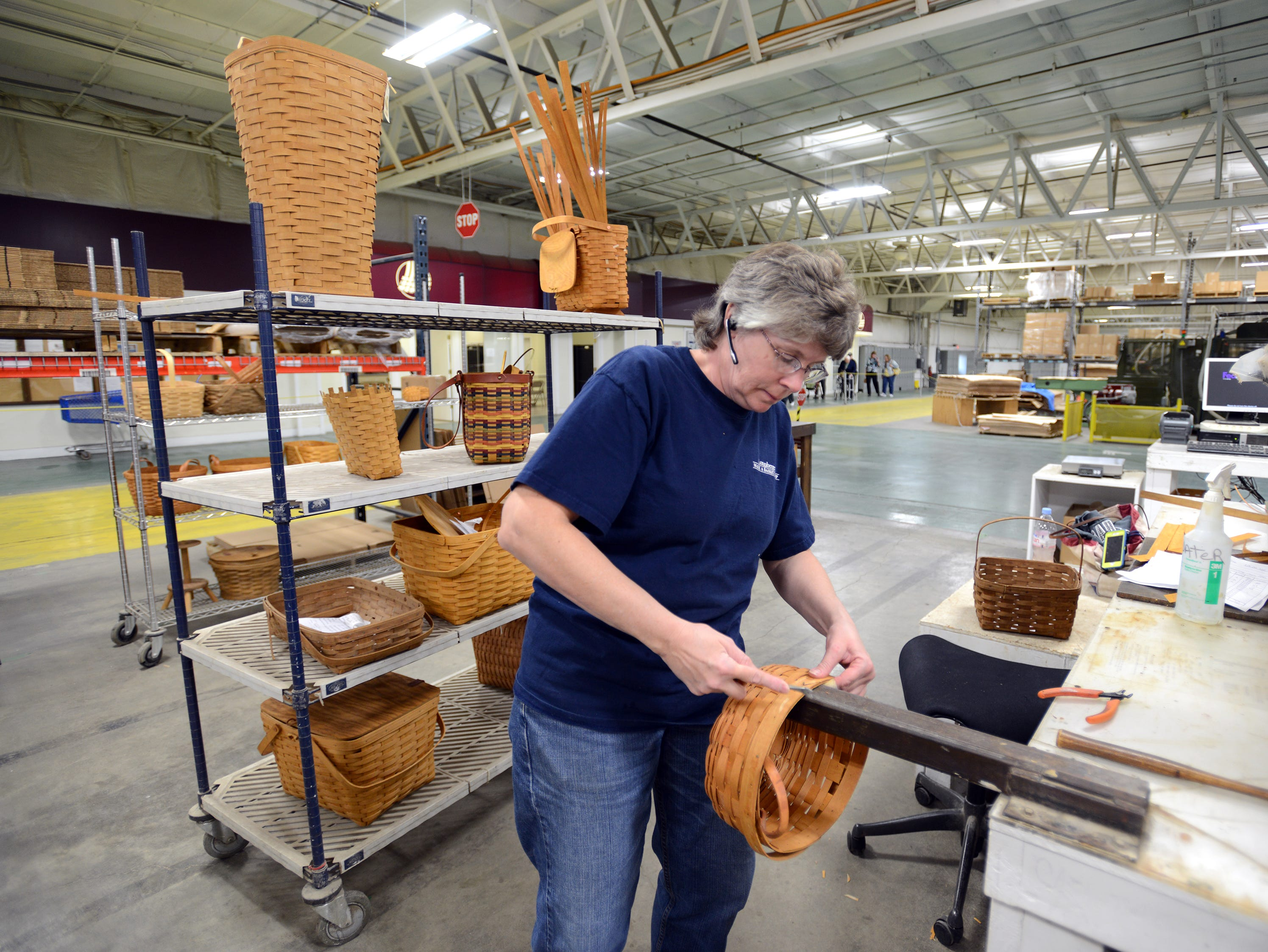 Longaberger has a restoration and repair service, and can repair baskets dating back to the first group made.