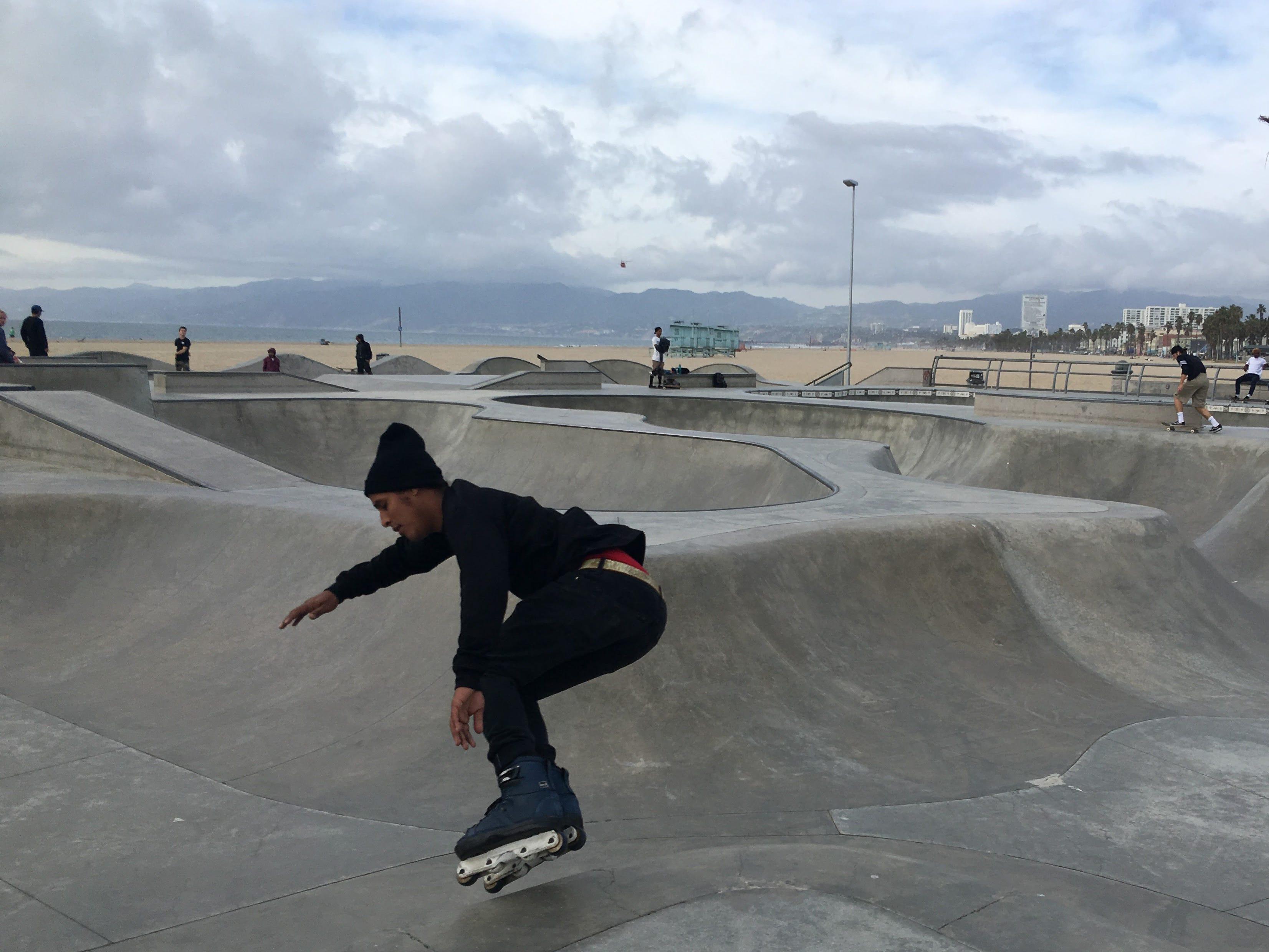The Venice Beach skate park is a popular spot