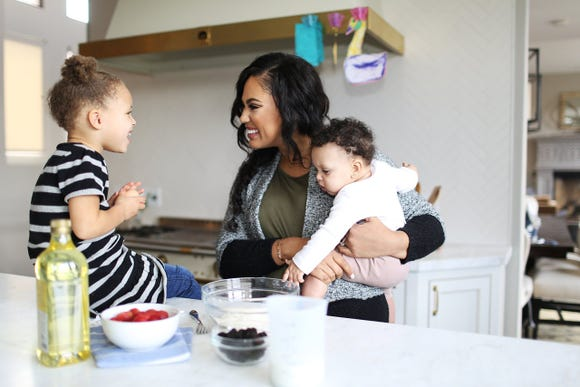Ayesha Curry with kids