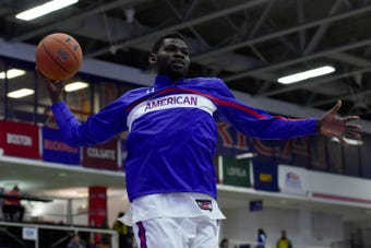 American University basketball player Yilret Yiljep discussed return after missing past four years after being misdiagnosed with a heart condition.