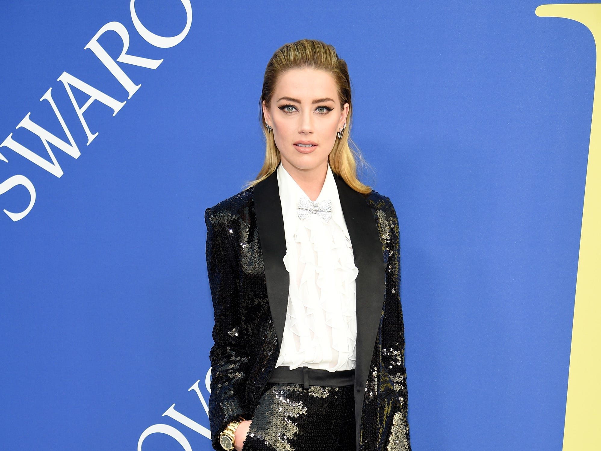NEW YORK, NY - JUNE 04:  Amber Heard attends the 2018 CFDA Fashion Awards at Brooklyn Museum on June 4, 2018 in New York City.  (Photo by Dimitrios Kambouris/Getty Images) ORG XMIT: 775160955 ORIG FILE ID: 967399170