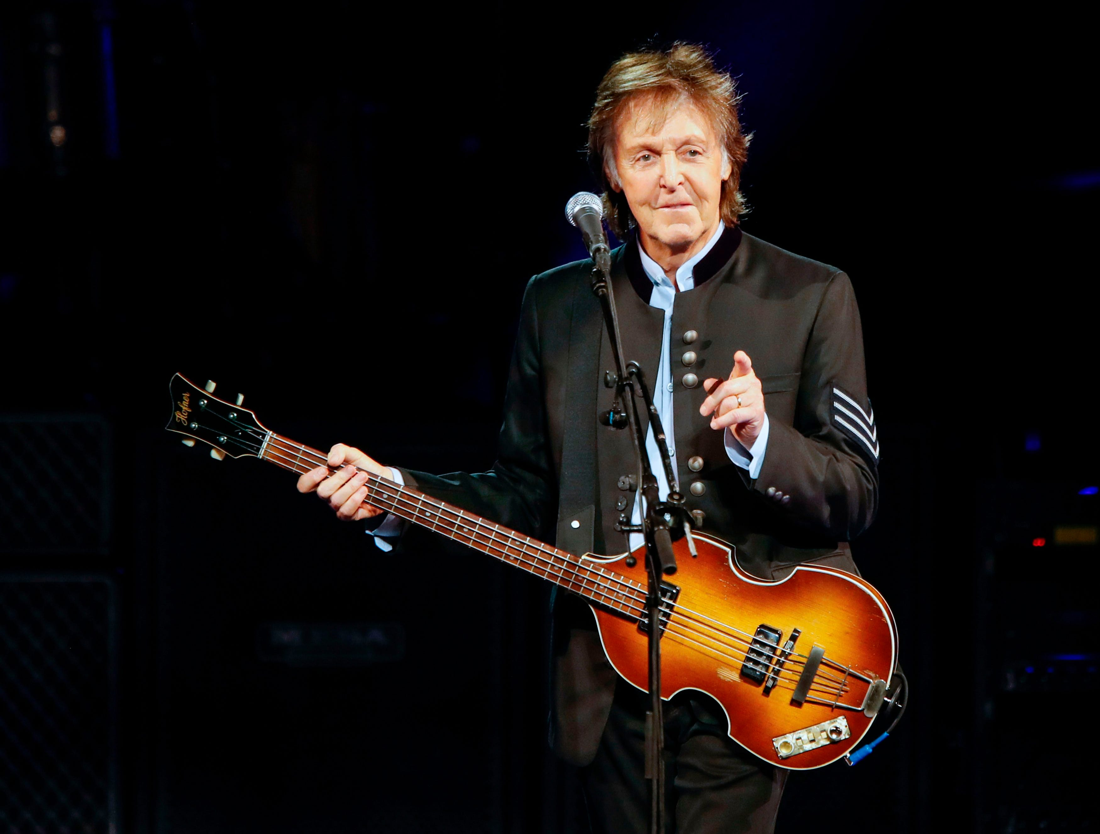 Sir Paul McCartney performs during his One on One tour at Hollywood Casino Amphitheatre in Tinley Park, Illinois, in July 2017. McCartney was back on the top of the charts on Sept. 16, 2018, earning his first solo No. 1 album in the United States in 36 years.