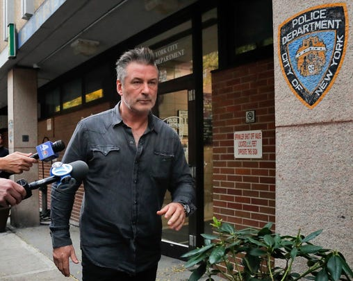 Actor Alec Baldwin went to the 10th district of the New York Police Station on November 2, 2018, after being arrested for a strike on his face during a dispute over a parking space outside his home in New York.
