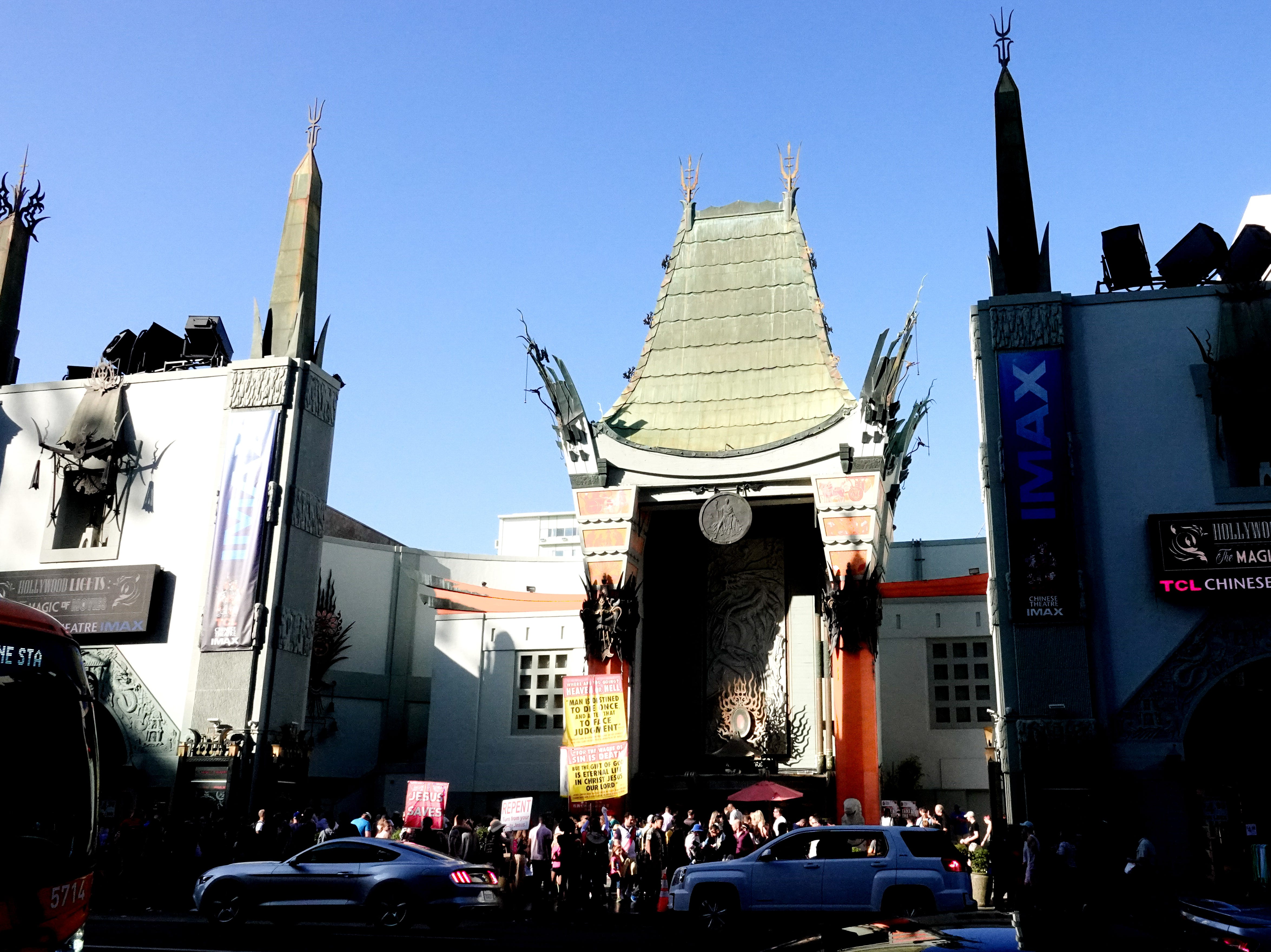 The iconic TCL Chinese Theater on the Hollywood Walk of Fame