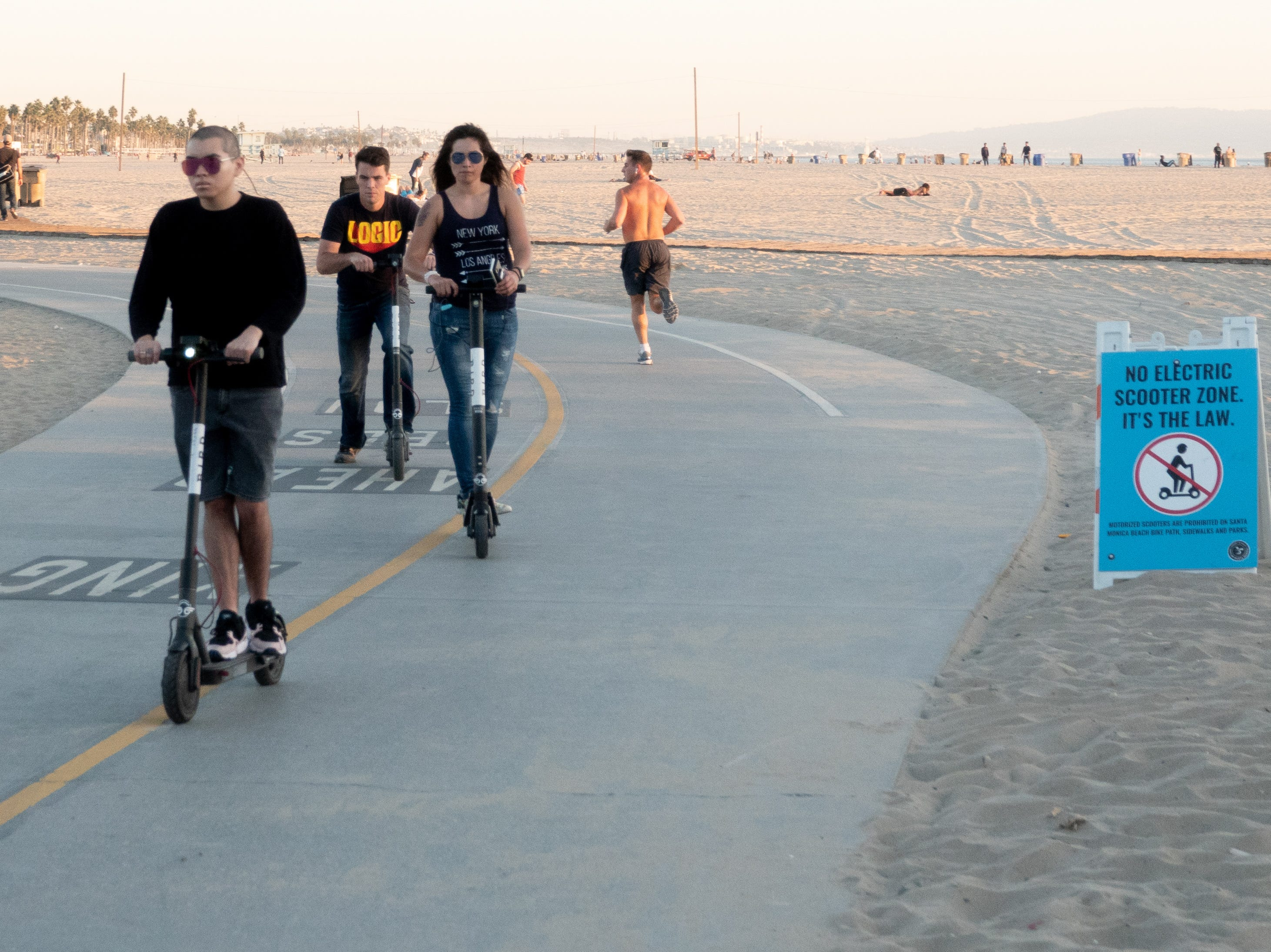 Electric scooter riders not obeying the law in Santa Monica
