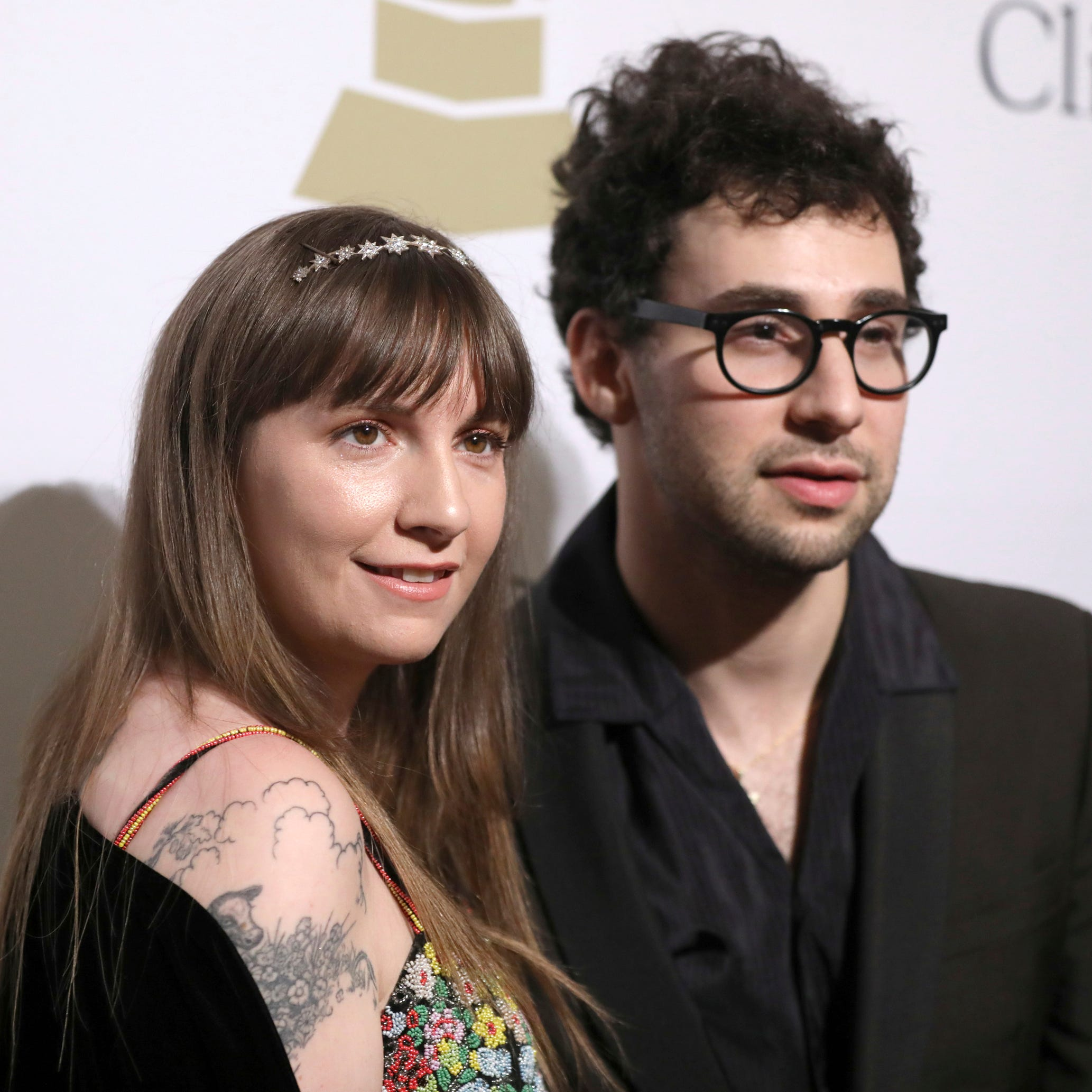 Lena Dunham with Jack Antonoff in 2017.