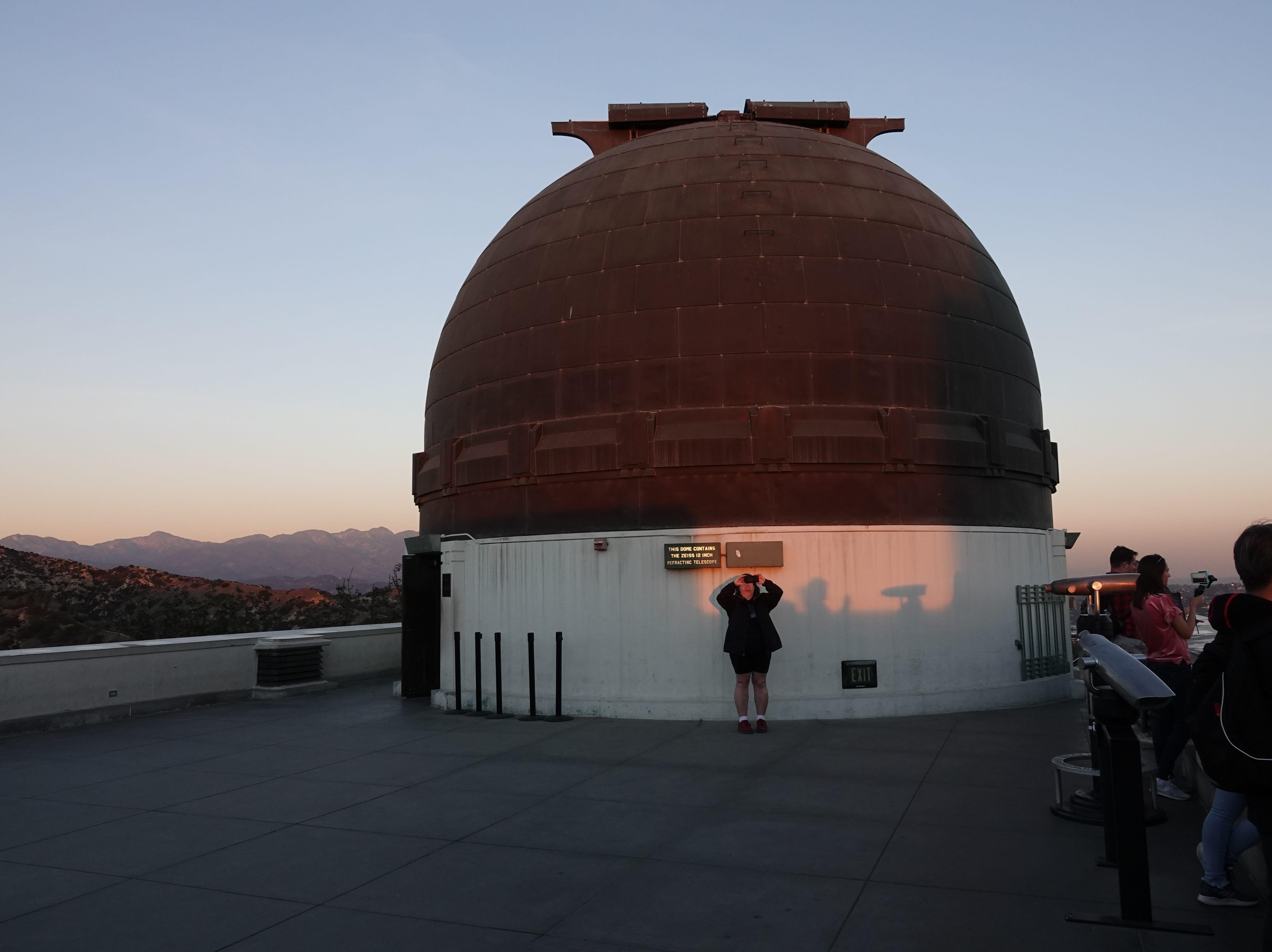 Taking photos at the Griffith Observatory