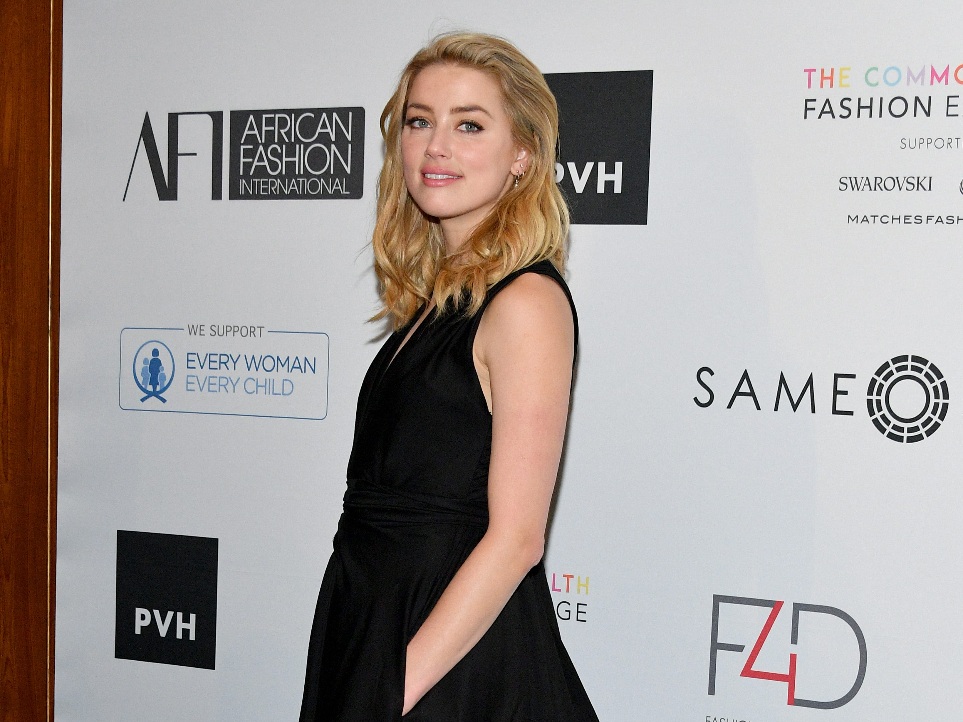 NEW YORK, NY - SEPTEMBER 25:  Amber Heard attends Fashion 4 Development's 8th Annual Official First Ladies Luncheon at The Pierre Hotel on September 25, 2018 in New York City.  (Photo by Dia Dipasupil/Getty Images for Fashion 4 Development) ORG XMIT: 775224002 ORIG FILE ID: 1040047608