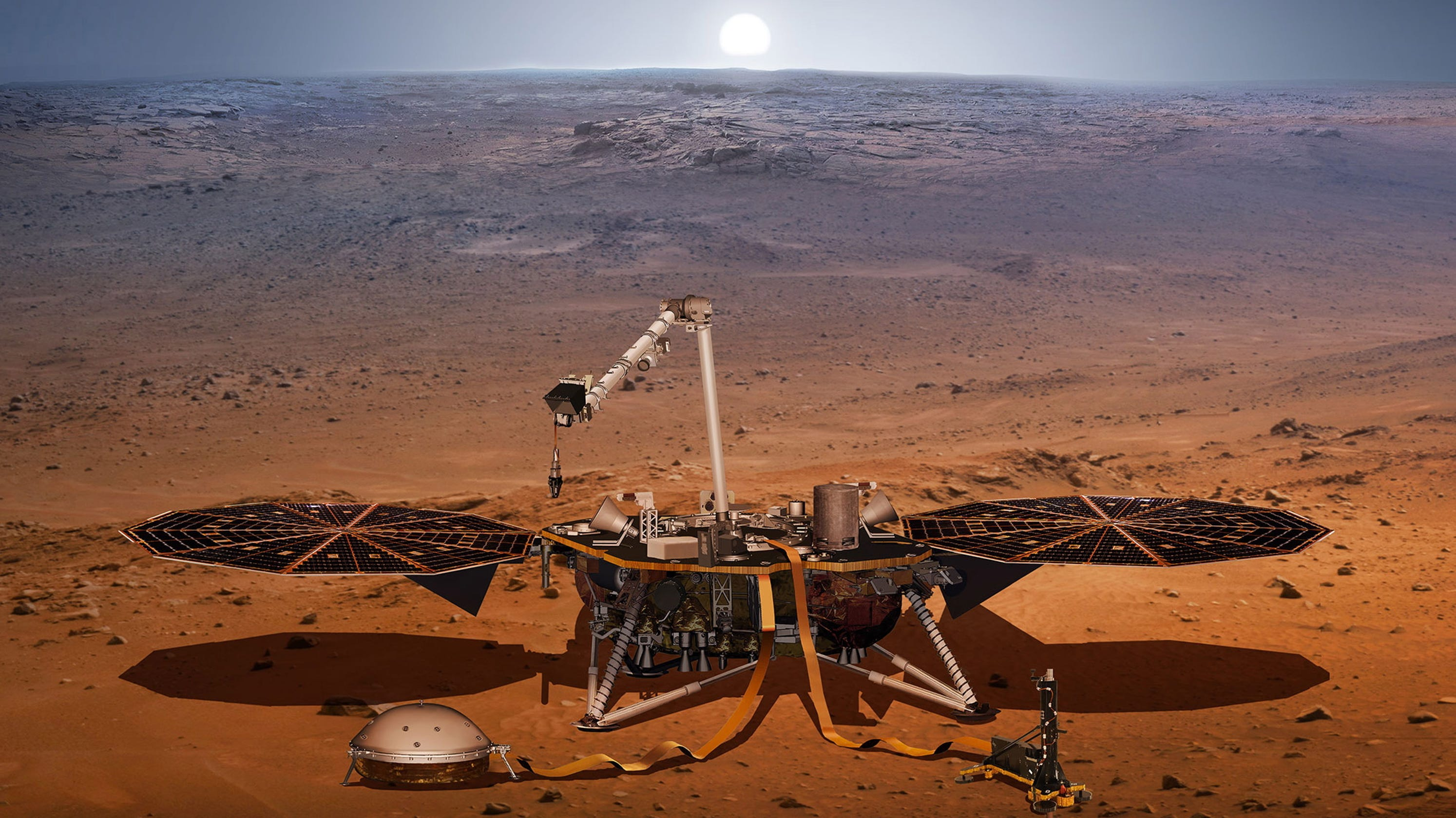 mars insight landing tv -#main