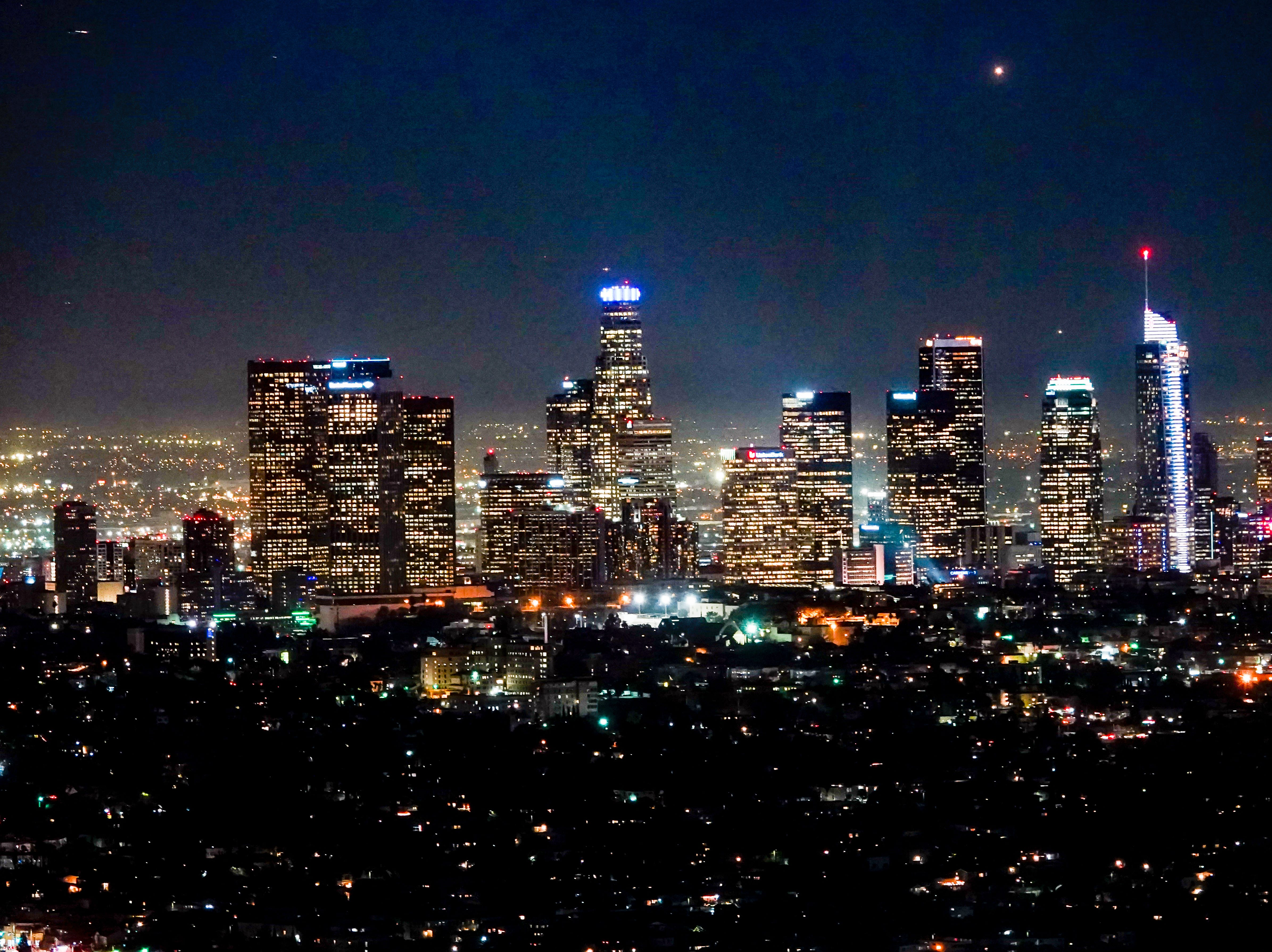 Downtown Los Angeles, after dark