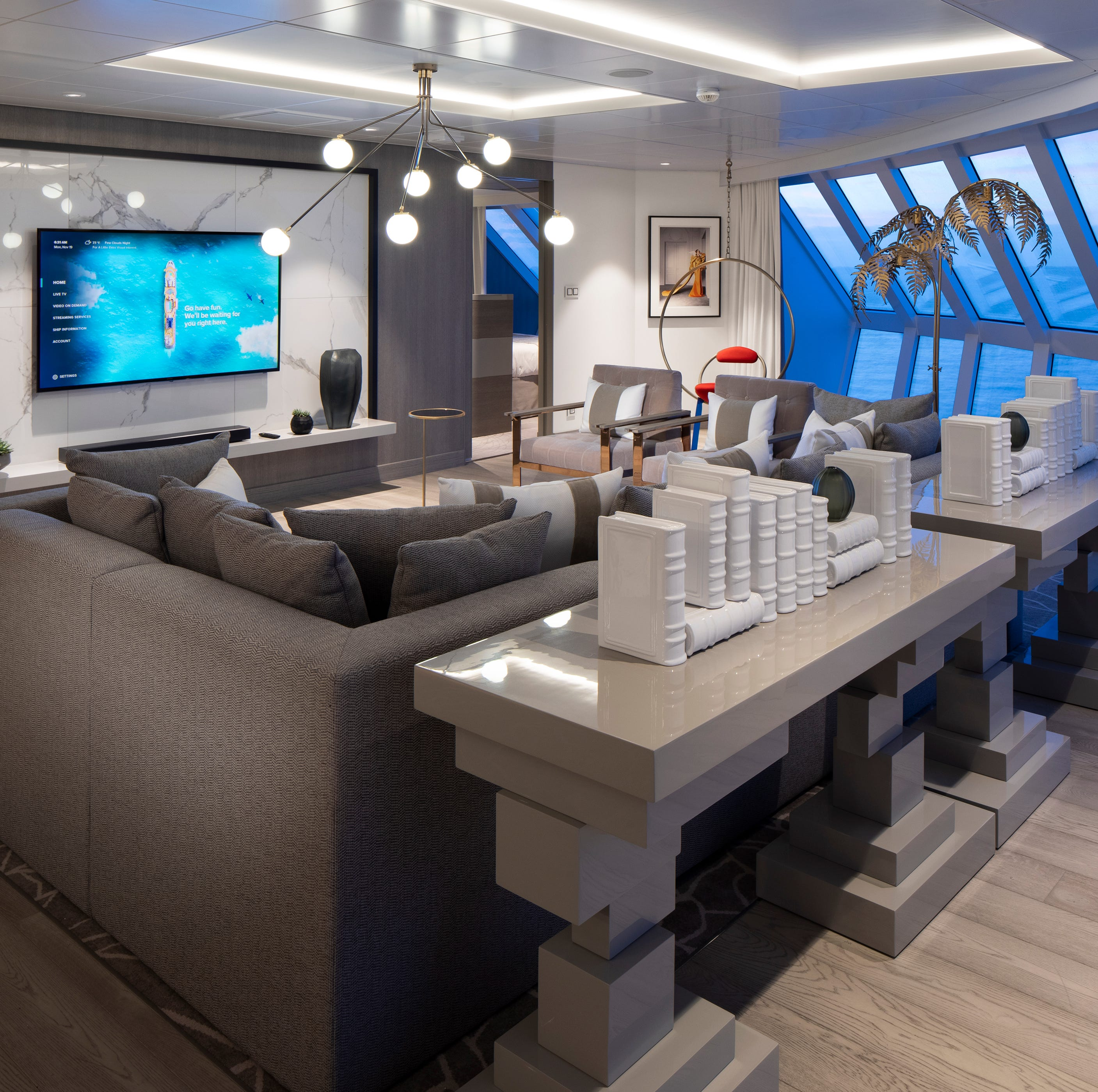The biggest suites on Celebrity Edge are its two Iconic Suites.