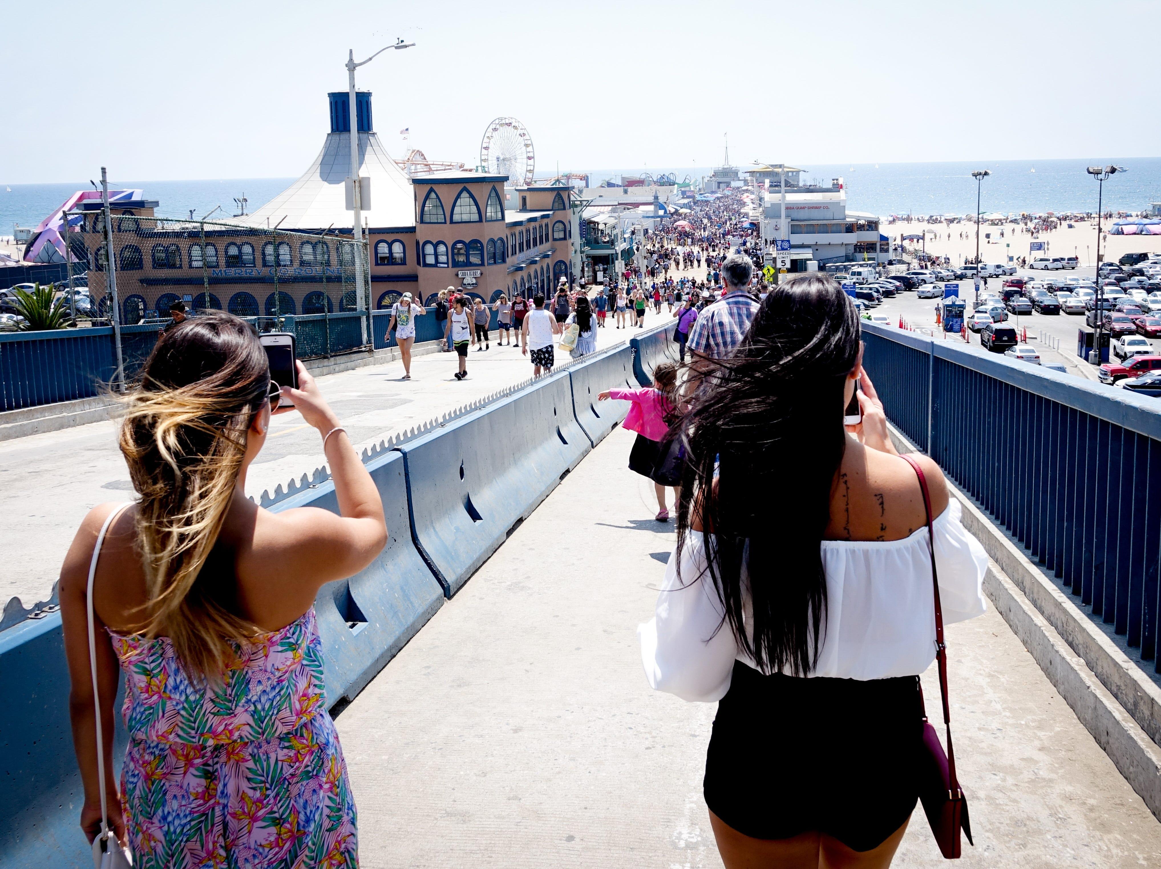 Walking down to the Santa Monica Pier