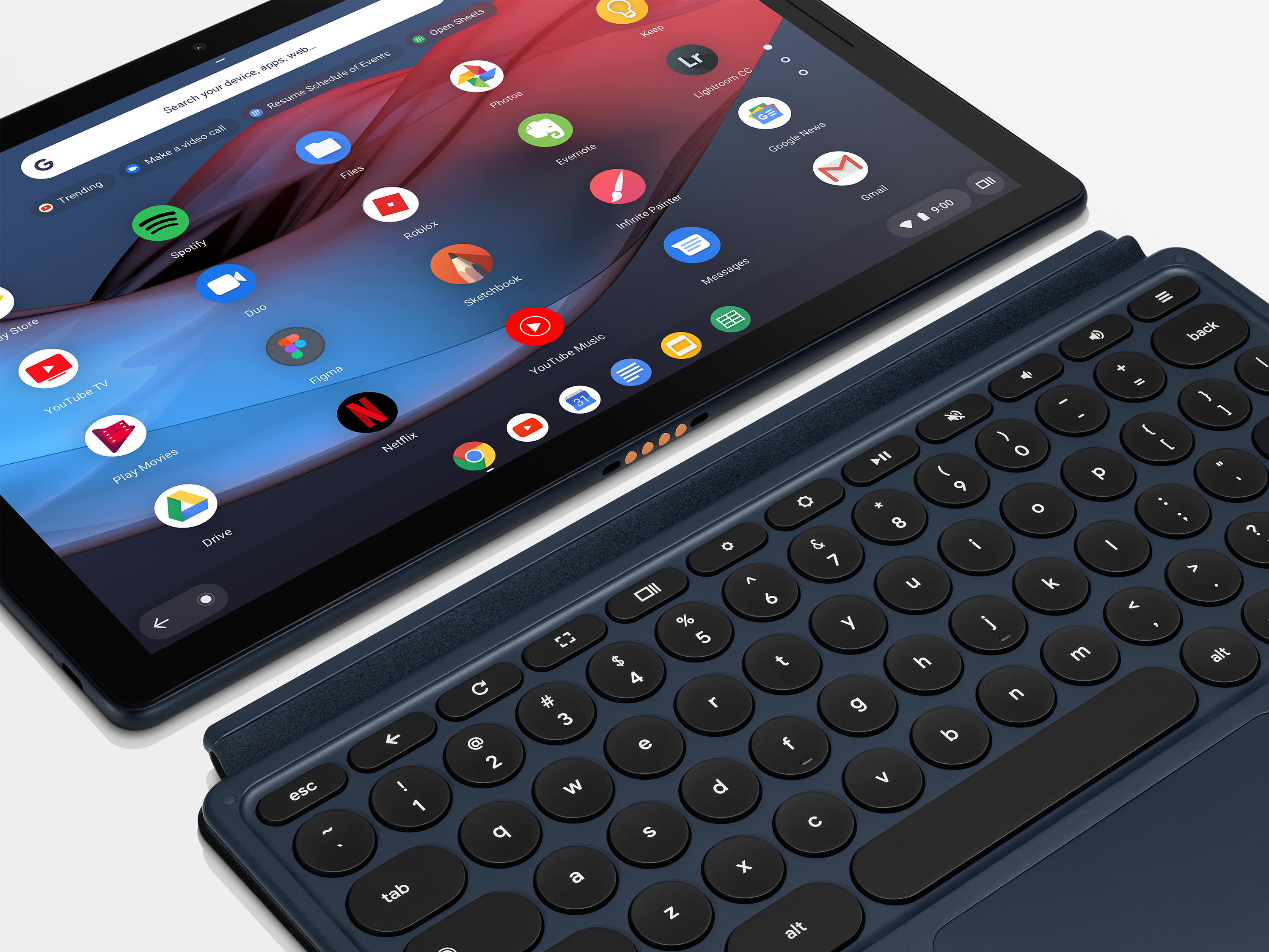 Google Pixel Slate with accessory keyboard.