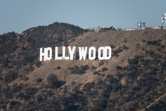 The Hollywood sign, as seen from Griffith Park